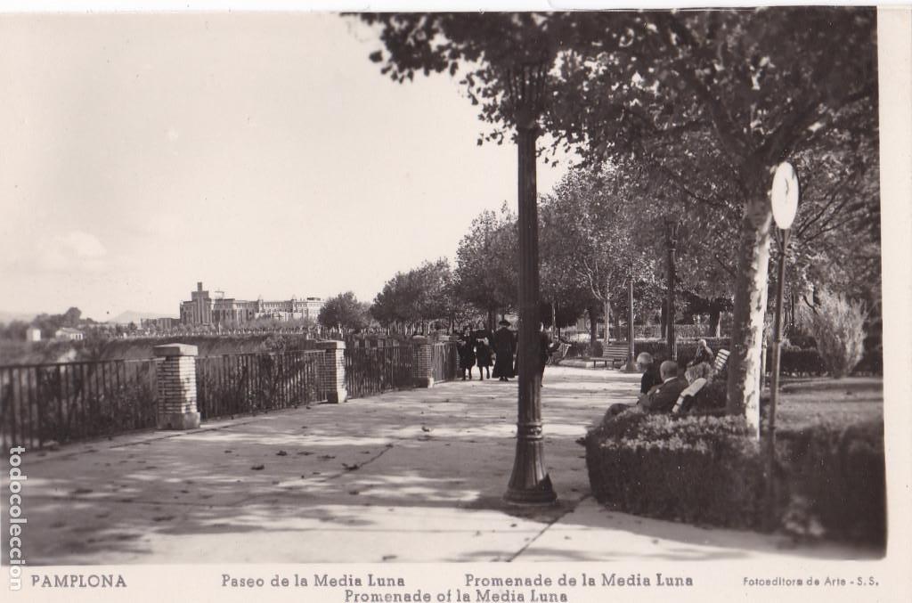 PAMPLONA PASEO DE LA MEDIA LUNA. ED. FOTOEDITORA DE ARTE. SIN CIRCULAR (Postales - España - Navarra Antigua (hasta 1.939))