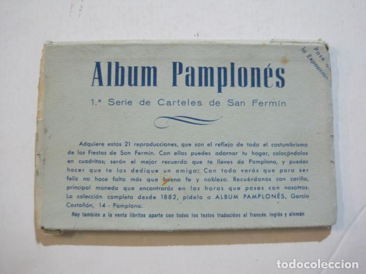 Postales: PAMPLONA-SAN FERMIN-ALBUM PAMPLONES-1ª SERIE CARTELES DE SAN FERMIN-VER FOTOS-(73.979) - Foto 2 - 217742858