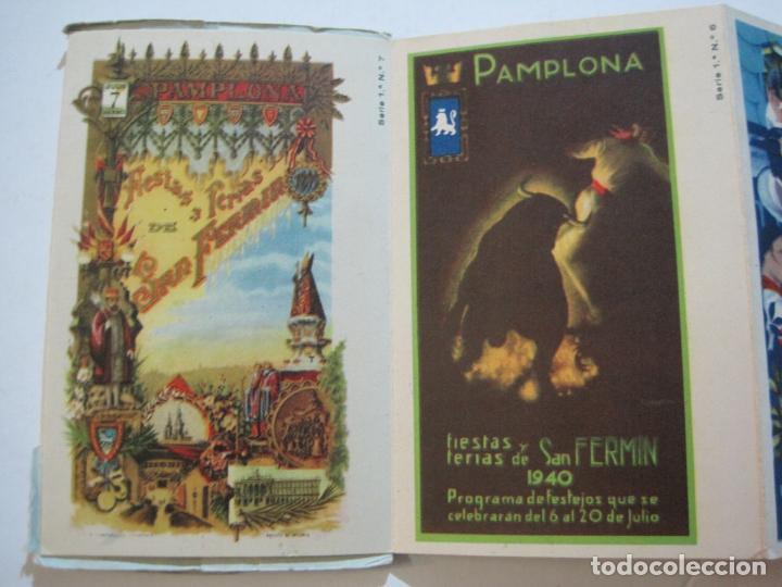 Postales: PAMPLONA-SAN FERMIN-ALBUM PAMPLONES-1ª SERIE CARTELES DE SAN FERMIN-VER FOTOS-(73.979) - Foto 5 - 217742858