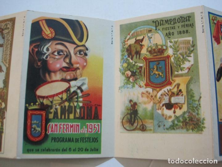 Postales: PAMPLONA-SAN FERMIN-ALBUM PAMPLONES-1ª SERIE CARTELES DE SAN FERMIN-VER FOTOS-(73.979) - Foto 7 - 217742858