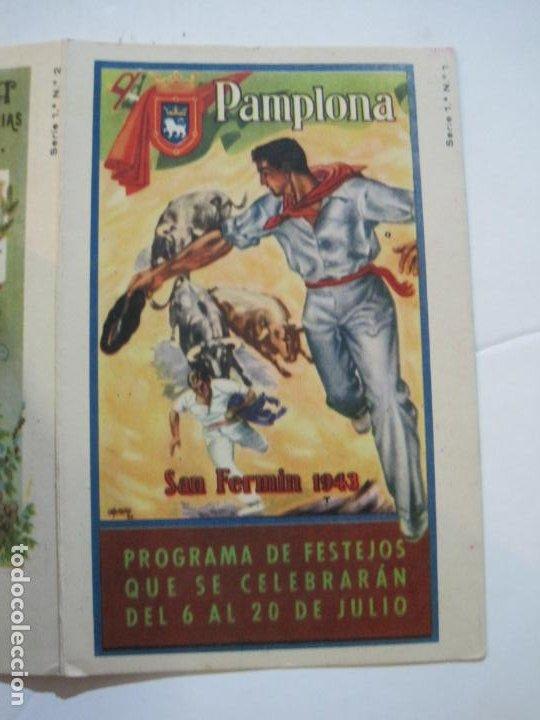 Postales: PAMPLONA-SAN FERMIN-ALBUM PAMPLONES-1ª SERIE CARTELES DE SAN FERMIN-VER FOTOS-(73.979) - Foto 8 - 217742858