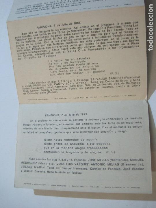 Postales: PAMPLONA-SAN FERMIN-ALBUM PAMPLONES-1ª SERIE CARTELES DE SAN FERMIN-VER FOTOS-(73.979) - Foto 9 - 217742858