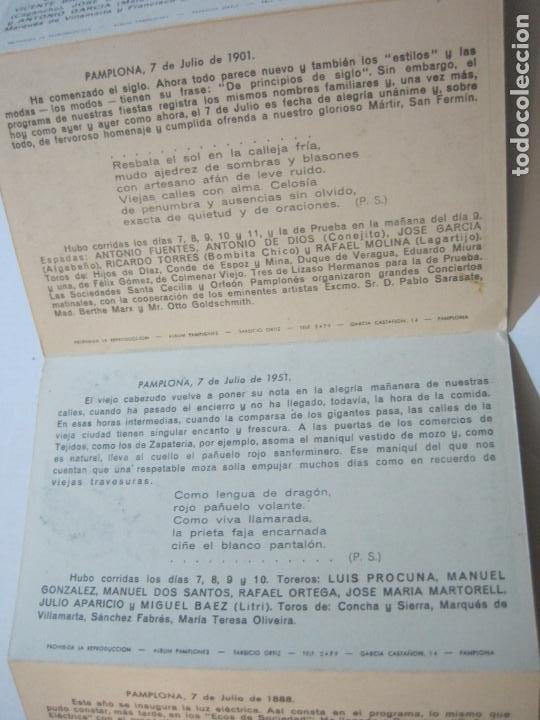 Postales: PAMPLONA-SAN FERMIN-ALBUM PAMPLONES-1ª SERIE CARTELES DE SAN FERMIN-VER FOTOS-(73.979) - Foto 10 - 217742858