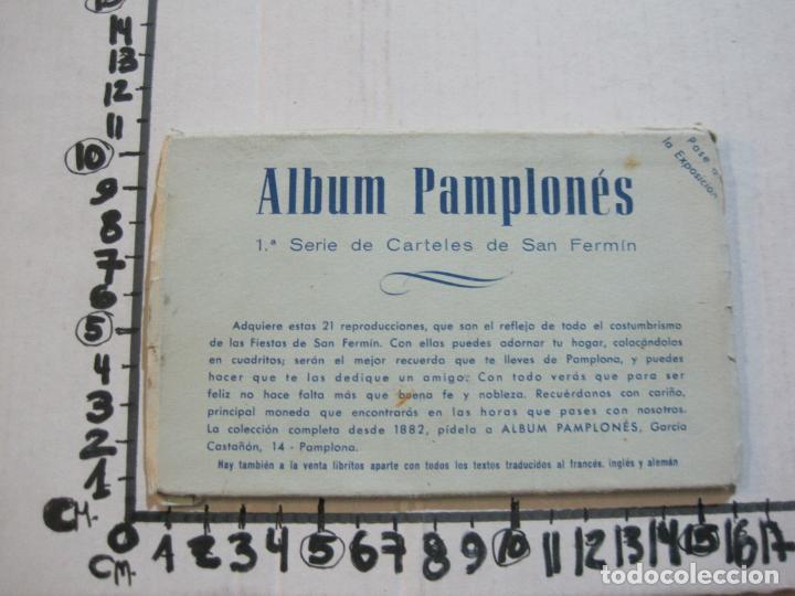 Postales: PAMPLONA-SAN FERMIN-ALBUM PAMPLONES-1ª SERIE CARTELES DE SAN FERMIN-VER FOTOS-(73.979) - Foto 11 - 217742858