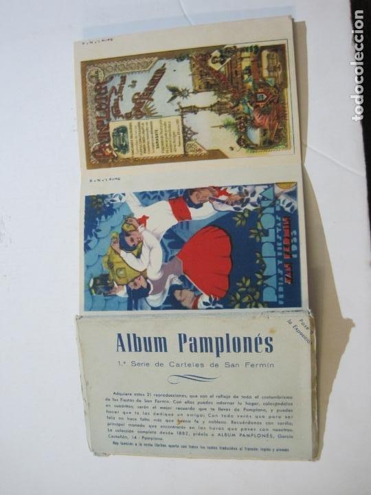 PAMPLONA-SAN FERMIN-ALBUM PAMPLONES-1ª SERIE CARTELES DE SAN FERMIN-VER FOTOS-(73.979) (Postales - España - Navarra Antigua (hasta 1.939))