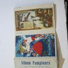Postales: PAMPLONA-SAN FERMIN-ALBUM PAMPLONES-1ª SERIE CARTELES DE SAN FERMIN-VER FOTOS-(73.979). Lote 217742858