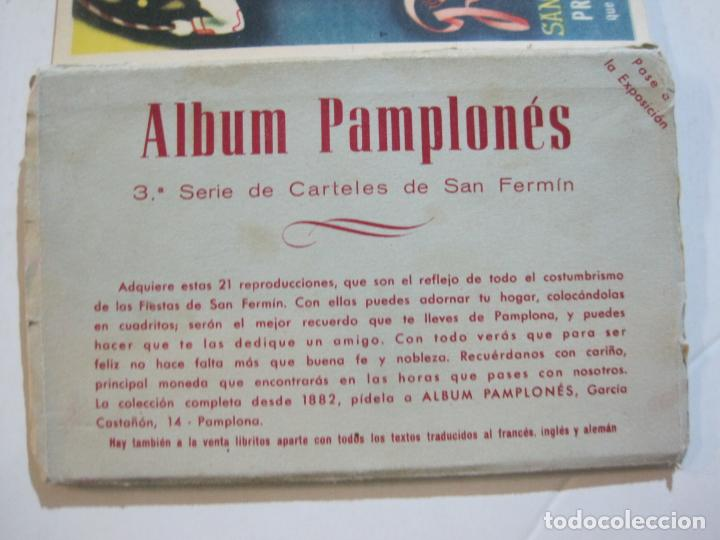 Postales: PAMPLONA-SAN FERMIN-ALBUM PAMPLONES-3ª SERIE CARTELES DE SAN FERMIN-VER FOTOS-(73.980) - Foto 2 - 217742925
