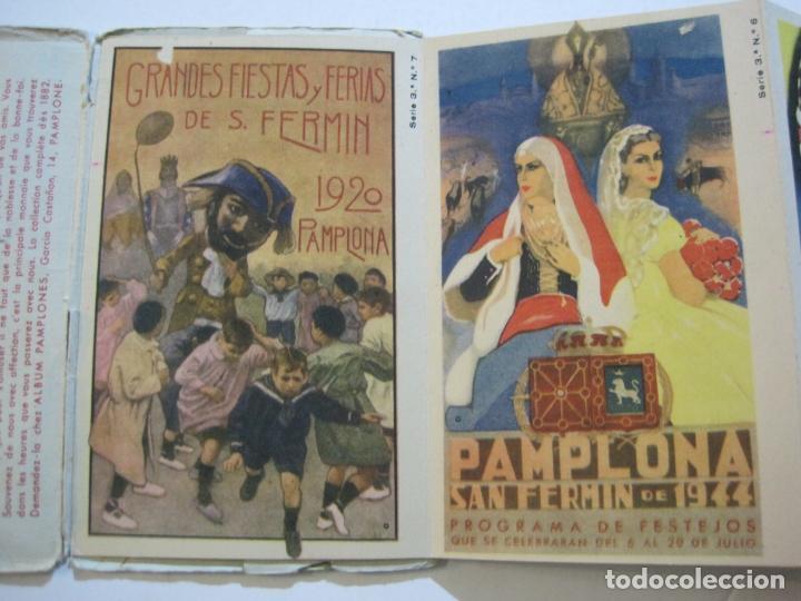 Postales: PAMPLONA-SAN FERMIN-ALBUM PAMPLONES-3ª SERIE CARTELES DE SAN FERMIN-VER FOTOS-(73.980) - Foto 5 - 217742925