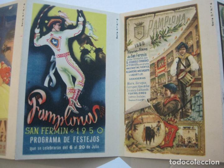 Postales: PAMPLONA-SAN FERMIN-ALBUM PAMPLONES-3ª SERIE CARTELES DE SAN FERMIN-VER FOTOS-(73.980) - Foto 6 - 217742925
