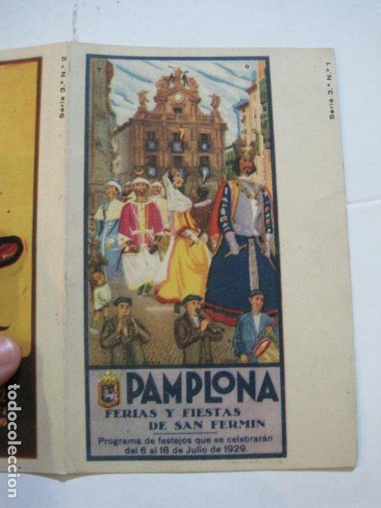 Postales: PAMPLONA-SAN FERMIN-ALBUM PAMPLONES-3ª SERIE CARTELES DE SAN FERMIN-VER FOTOS-(73.980) - Foto 8 - 217742925
