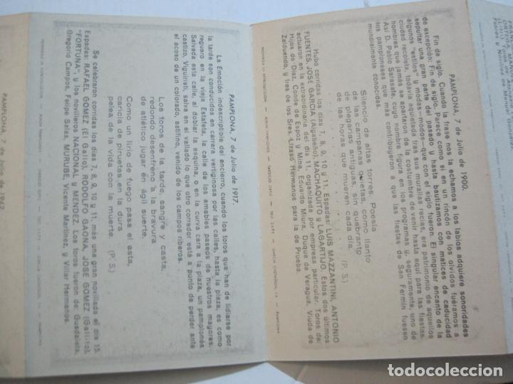 Postales: PAMPLONA-SAN FERMIN-ALBUM PAMPLONES-3ª SERIE CARTELES DE SAN FERMIN-VER FOTOS-(73.980) - Foto 10 - 217742925
