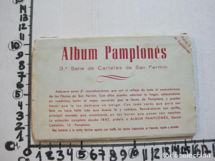 Postales: PAMPLONA-SAN FERMIN-ALBUM PAMPLONES-3ª SERIE CARTELES DE SAN FERMIN-VER FOTOS-(73.980) - Foto 12 - 217742925
