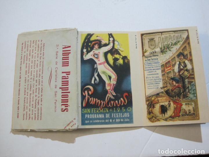 PAMPLONA-SAN FERMIN-ALBUM PAMPLONES-3ª SERIE CARTELES DE SAN FERMIN-VER FOTOS-(73.980) (Postales - España - Navarra Antigua (hasta 1.939))