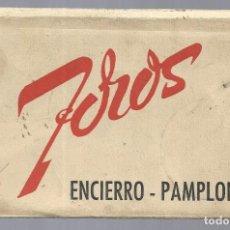 Postales: PAMPLONA- BLOC DE 10 POSTALES ANTIGUAS ENCIERRO - FOTO RAFAEL BOZANO NUEVAS. Lote 218314493