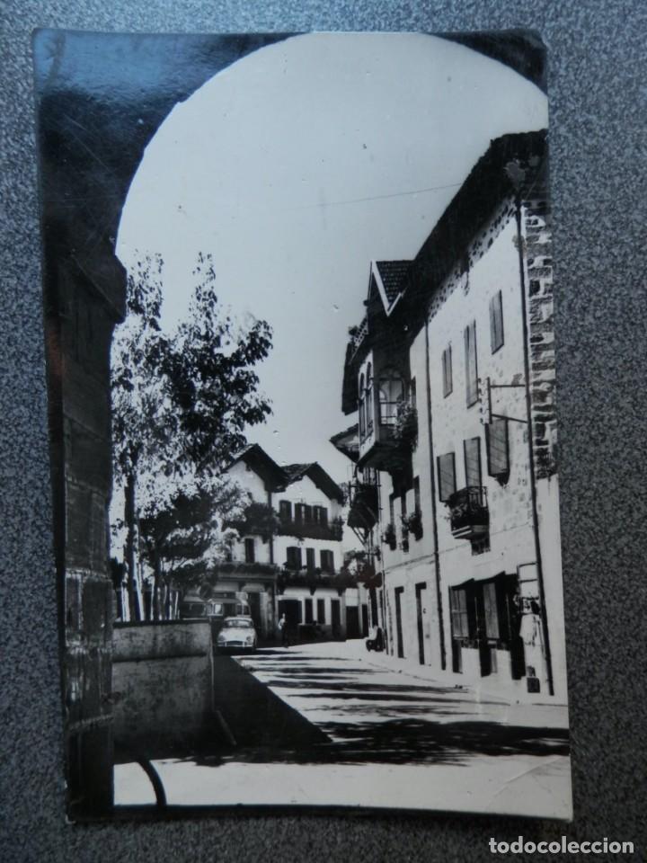 LESACA NAVARRA POSTAL CIRCULADA FECHADOR DE LESACA (Postales - España - Navarra Moderna (desde 1.940))