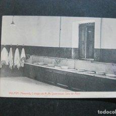 Postales: VILLAVA (NAVARRA)-COLEGIO DE M.M. DOMINICAS-SALA DE ASEO-THOMAS-POSTAL ANTIGUA-(74.337). Lote 220295347