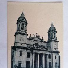 Postales: POSTAL PAMPLONA, FACHADA DE LA CATEDRAL. Lote 221071497