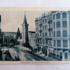 Postales: POSTAL PAMPLONA, AVENIDA DE SAN IGNACIO. Lote 221146188