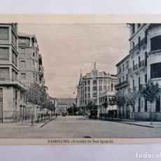Postales: POSTAL PAMPLONA, AVENIDA DE SAN IGNACIO. Lote 221146355