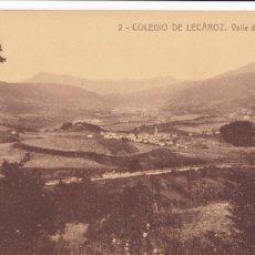 Postales: COLEGIO DE LECAROZ VALLE DE BATZAN. FOTOTIPIA THOMAS Nº 2. SIN CIRCULAR. Lote 221492065