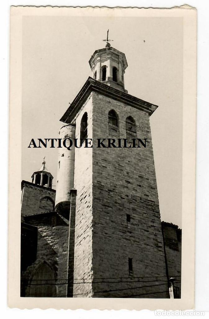 PAMPLONA .- IGLESIA DE SAN CERNIN .- POSTAL FOTOGRAFICA SIN EDITOR (Postales - España - Navarra Moderna (desde 1.940))