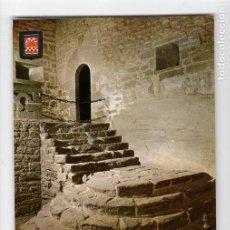 Postales: Nº 9 CASTILLO DE JAVIER. ANTIGUA ESCALERA -FOTOGRAFÍA INDUSTRIAL, 1965-. Lote 221607413