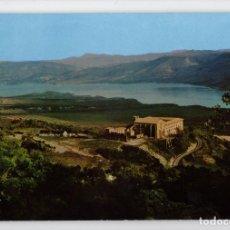 Postales: Nº 105 LEYRE. VISTA GENERAL DEL MONASTERIO Y PANTANO DE YESA -PEÑARROYA, 1967-. Lote 221608523