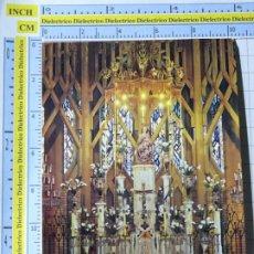 Postales: POSTAL DE NAVARRA. AÑO 1965. ESTELLA BASÍLICA DE NUESTRA SEÑORA DEL PUY ALTAR 19 TOMAS 1273. Lote 221826917
