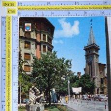 Postales: POSTAL DE NAVARRA. AÑO 1974. PAMPLONA MONUMENTO AVENIDA E IGLESIA SAN IGNACIO. MANIFESTACIÓN. 1275. Lote 221827666