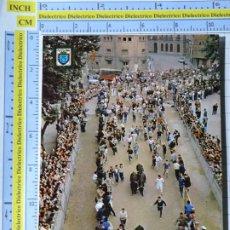 Postales: POSTAL DE NAVARRA. AÑO 1963. FIESTAS DE SAN FERMÍN EL ENCIERRO DE LOS TOROS. 20 ESCUDO ORO 1282. Lote 221828326