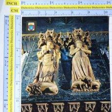 Cartes Postales: POSTAL DE NAVARRA. AÑO 1969. PAMPLONA SEPULCRO DE LOS REYES DE NAVARRA. 96 ESCUDO ORO 1284. Lote 221828545