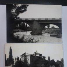 Postales: LOTE DE 2 ANTIGUAS POSTALES FOTOGRÁFICAS, CINTRUÉNIGO, NAVARRA, VER FOTOS. Lote 222096008