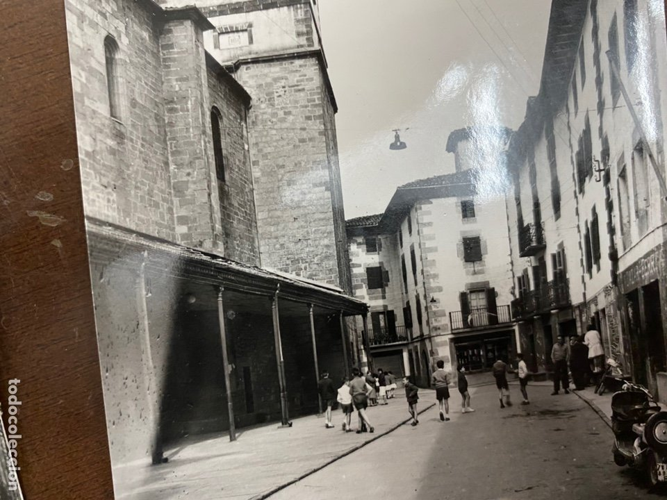 Postales: LOTE DE 4 POSTALES SANTESTEBAN, NAVARRA. CASA OSTIZ. SIN CIRCULAR. FRONTÓN, PLAZA VIEJA. 1961 - Foto 3 - 222575033