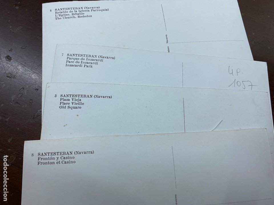 Postales: LOTE DE 4 POSTALES SANTESTEBAN, NAVARRA. CASA OSTIZ. SIN CIRCULAR. FRONTÓN, PLAZA VIEJA. 1961 - Foto 4 - 222575033