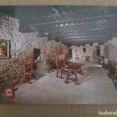 Postales: TARJETA POSTAL CASTILLO JAVIER NAVARRA Nº 5 SALA PRINCIPAL EDICIONES FISA ESCUDO DE ORO SIN CIRCULAR. Lote 222779738