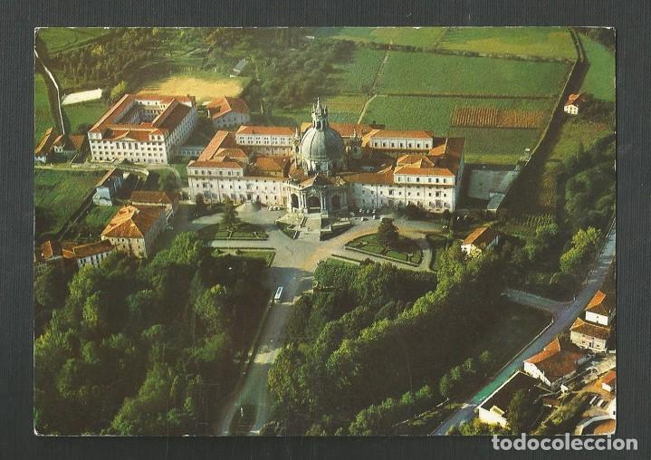 POSTAL SIN CIRCULAR - SANTUARIO DE LOYOLA 25 - VISTA AEREA - EDITA MANIPEL (Postales - España - Navarra Moderna (desde 1.940))