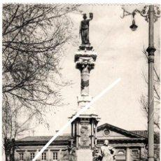 Postais: PRECIOSA POSTAL - PAMPLONA - MONUMENTO DE LOS FUEROS DE NAVARRA - EDICION COSGAYA. Lote 223997022