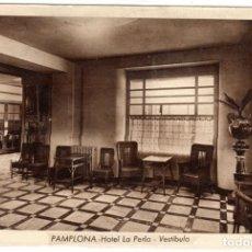 Postales: BONITA POSTAL - PAMPLONA - HOTEL LA PERLA - VESTIBULO. Lote 223999770