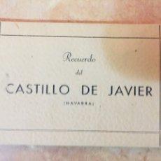 Postales: RECUERDO DEL CASTILLO DE JAVIER (NAVARRA) 10 POSTALES. Lote 224496075