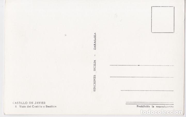 Postales: NAVARRA, CASTILLO DE JAVIER, VISTA DEL CASTILLO Y BASÍLICA - EDICIONES SICILIA Nº6 - S/C - Foto 2 - 226121230
