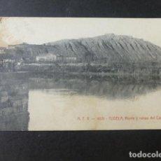 Postales: TUDELA NAVARRA MONTE Y RUINAS DEL CASTILLO. Lote 226843470
