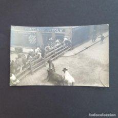 Postales: PAMPLONA. POSTAL FOTOGRÁFICA. ENCIERRO DE SAN FERMIN- SIN CIRCULAR (P131). Lote 227945865
