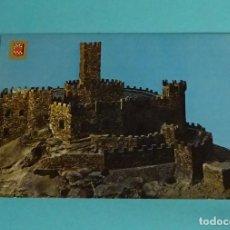 Postales: POSTAL MAQUETA CASTILLO DE JAVIER. ESCUDO DE ORO. Lote 229565565