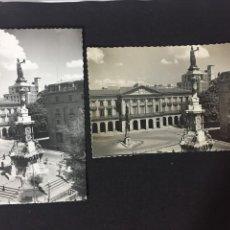 Postales: PAMPLONA - LOTE DE 2 POSTALES MONUMENTO A LOS FUEROS - ED. DARVI. Lote 230062220