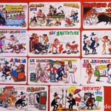 Cartoline: LOTE 05122020.- 01 11 TARJETAS PANCARTAS PEÑAS SAN FERMIN 1975 PUBLICIDAD CAJA DE AHORROS MUNICIPAL. Lote 232708880