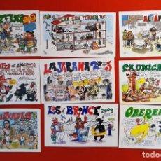 Postales: LOTE 05122020.- 07 16 TARJETAS PANCARTAS PEÑAS SAN FERMIN 2003. Lote 232706535