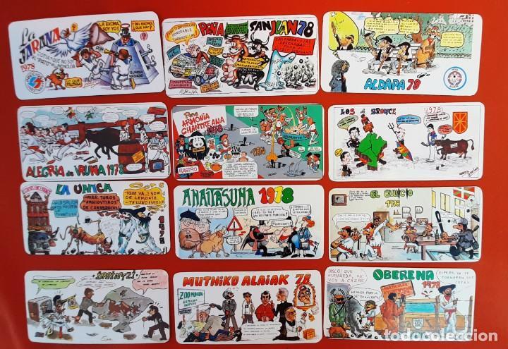 LOTE 05122020.- 03 18 TARJETAS PANCARTAS PEÑAS SAN FERMIN 1978 PUBLICIDAD DIVERSA.2 REPETIDAS (Postales - España - Navarra Moderna (desde 1.940))