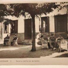 Postales: POSTAL BALNEARIO DE BELASCOAIN. NAVARRA. EXTERIOR SALON DE RECREO. GULLERA. Lote 234061565
