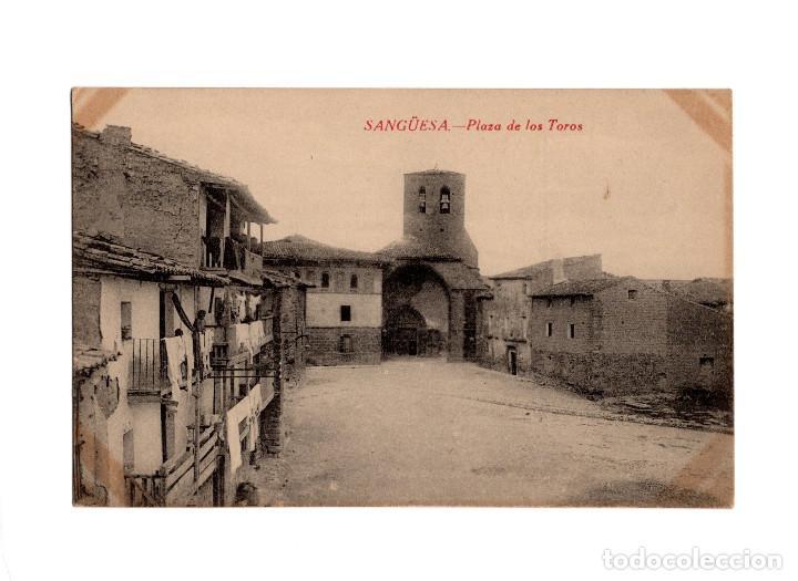 SANGÜESA.(NAVARRA).- PLAZA DE TOROS. (Postales - España - Navarra Antigua (hasta 1.939))
