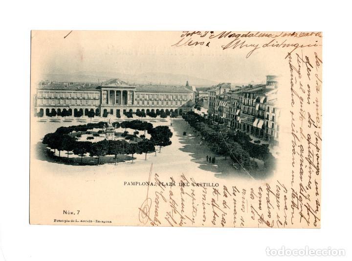 PAMPLONA.- PLAZA DEL CASTILLO. (Postales - España - Navarra Antigua (hasta 1.939))